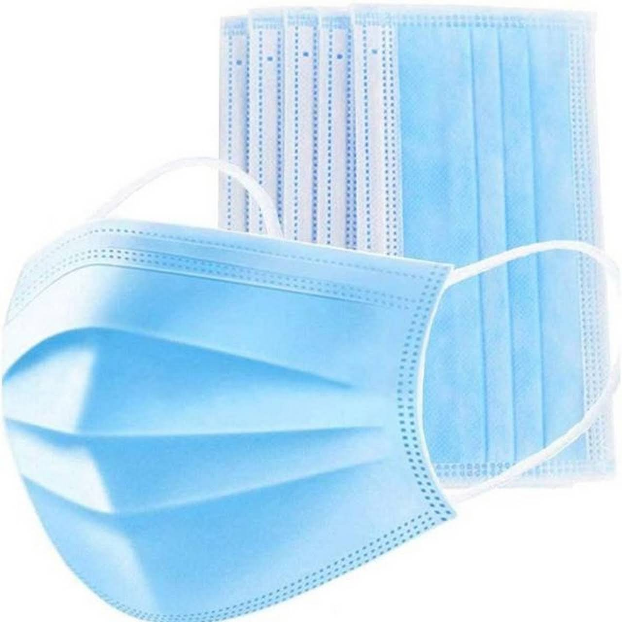Disposable Blue-Mask Without nose pin