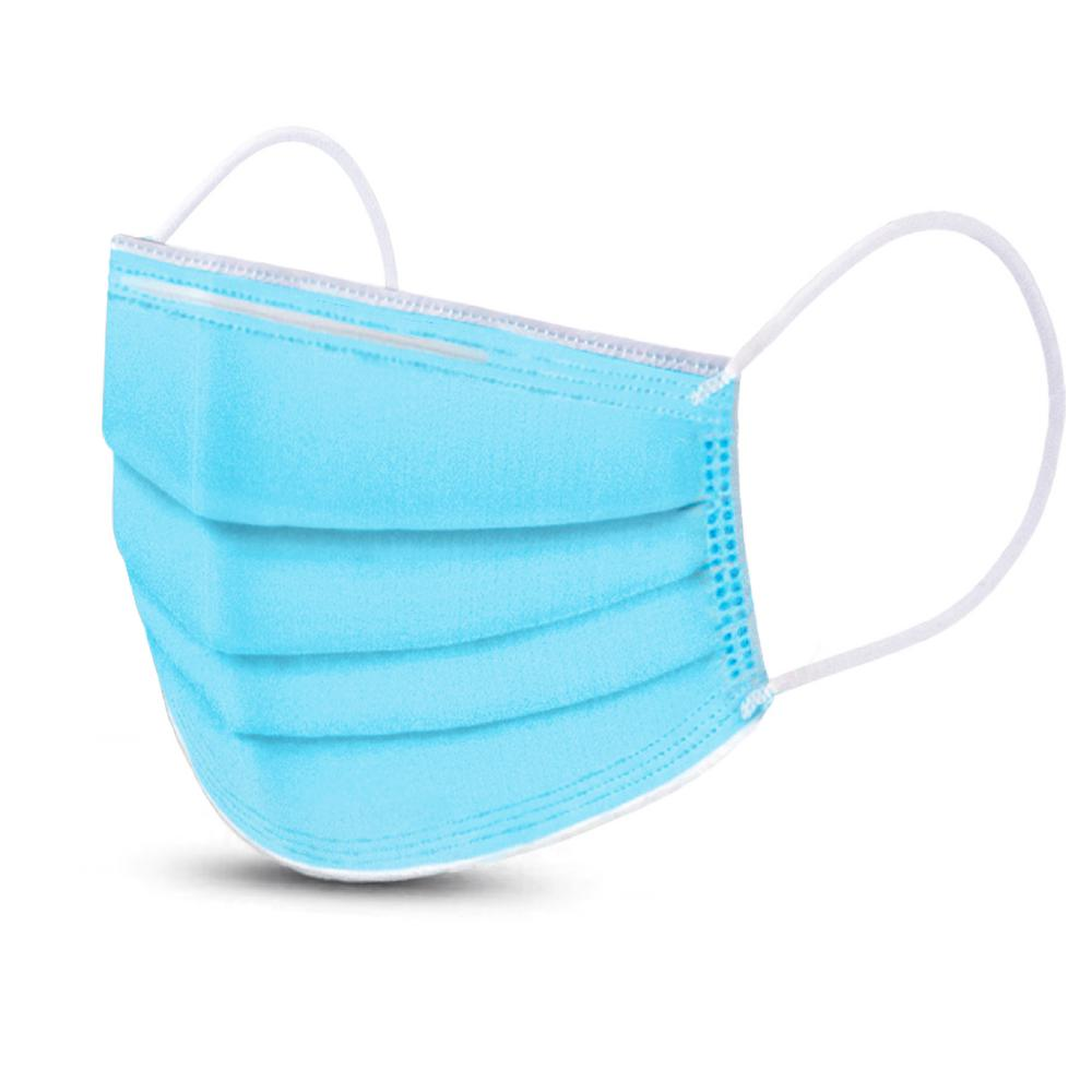Disposable Blue-Mask with nose pin